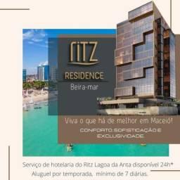 Aluguel por temporada em luxuoso apt beira-mar em Maceió - Ritz Residence para até 6 pesso