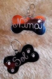 Plaquinhas de identificação para pets