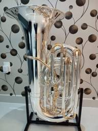 Tuba 5/4 Weingrill Nirschl WNTU1 Sib - Prata com ouro-Nova