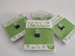 Adaptador Receptor Wireless Usb Wifi 600mbps Pc E Note