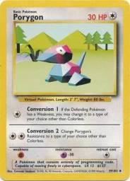 Pokemon Card - Porygon 1st edition 39/102