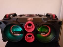 Caixinha de som anvox com Bluetooth 150 reais