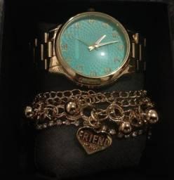 Relógio, Pulseira e caixinha de presente