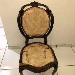Cadeira medalhão duplo jacarandá