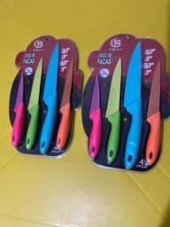 Jogo de facas coloridas