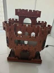 Castelo Medieval mdf pintado 58x47x29