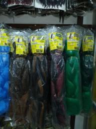 Fibras sintéticas, fibras orgânicas e acessórios