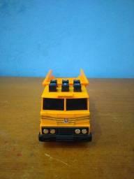 Brinquedo antigo caminhão basculante, botões eletrônico estrela