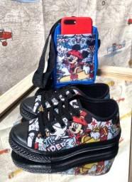 Kit bolsa mais sapato (tênis) por apenas R$ 55,00