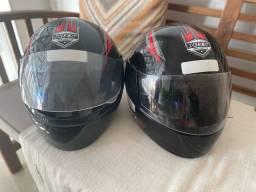 Dois capacetes TAM 58 R$130,00