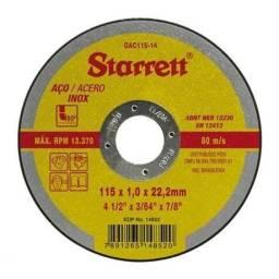 """DISCO DE CORTE INOX 4.1/2"""" STARRETT"""