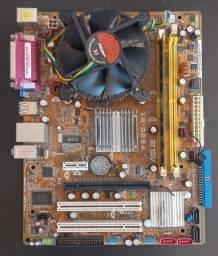 Placa Mãe Asus P5GC-MX com Processador e Memoria 2G