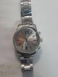 Relógio Prata Novo Grande