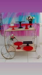 Aluguel carrinho de decoração