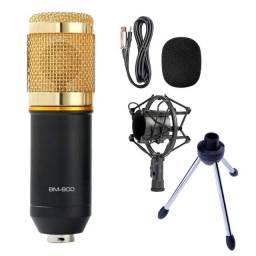 Microfone BM-800 com tripé