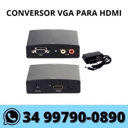 Conversor Adaptador de Vga para Hdmi c/ Áudio