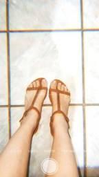 Sandália terracota