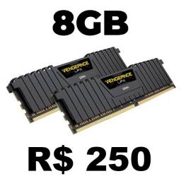 2 Memórias Ram - 2x4GB