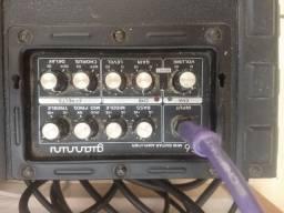 Caixa de som e amplificador GIANNINI