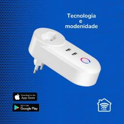 Tomada Inteligente 2 Entradas USB Google Alexa Smart Wifi