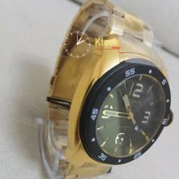 Relógio Atlantis Relógio Masculino Dourado Estilo Invicta Prodrive
