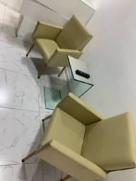 Mesa de centro + poltrona super luxo