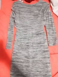 Vestido cinza grafitado