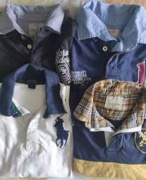Camisetas pólo. Tamanho 10/12. Pouco uso