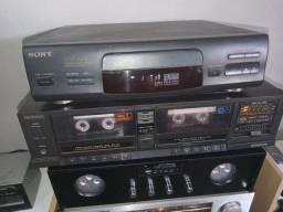 Cd player sony cdp-m28 e tape deck Techincs