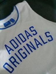 Camisa Adidas original cropped feminino tamanho P usada São Caetano do Sul Sp