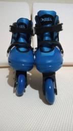 Patins Roller In-line (Azul) (Ajustável do 29 ao 32) BelSports