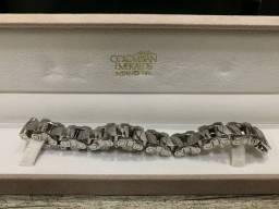 Pulseira aço inoxidável com 1 diamante