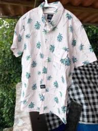 Camisa de botão da Rip Curl Nova!