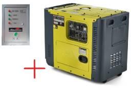 Gerador de energia diesel automático toyama tdg8000 sle + ats (brinde)