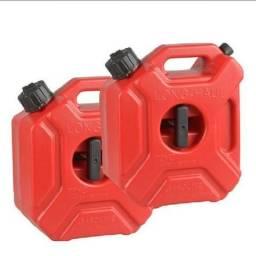 Kit Reservatorios Tanque Galao Combustivel Gasolina 5l Moto