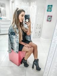 Jaqueta jeans feminina frete grátis
