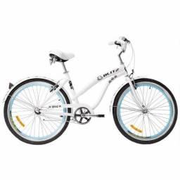 a8b157120 Bicicleta Blitz Wind Vintage Estilo Retro Aro 26 Feminina 6 Velocidades  Branca