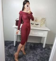 Vestido Midi tricô