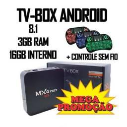 Smart tv Box 4K mxq Pro 8.1 16GB 3GB Ram + controle sem fio