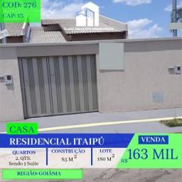 ?Casa de 2 quartos - Residencial itaipu - Goiânia