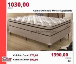 Cama Box Excelência Molas Superlastic Casal - R$ 1.030