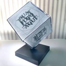 Cubo Giratório Personalizado Com 6 Fotos