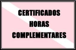 Certificado Horas Complementares