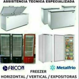 Assistência técnica refrigeração geladeiras frigobar lavadoras freezers