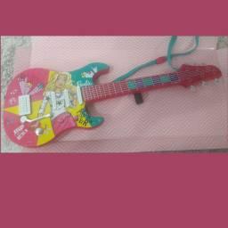 Brinquedo Guitarra Fabulosa Mp3 Player Barbie