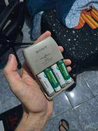 flash viltrox com pilhas recarregaveis
