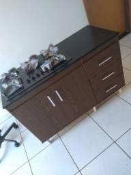 Balcão cooktop 2 portas 3 gavetas entrego