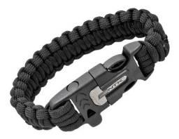 Pulseira NTK Action cord tatico - pederneira apito e paracord