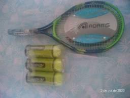Par Raquete de Tênis e kit com nove bolas