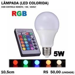 Título do anúncio: Lâmpada Colorida RGB com Controle Remoto